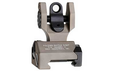 Troy Industries AR15 BattleSight Rear Folding - Flat Dark Earth