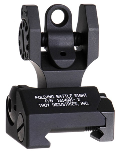 AR15 Rear Folding Battle Sight - Black