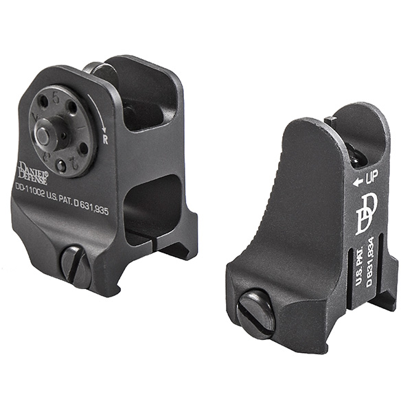Made in USA Daniel Defense Fixed Front and Rear Sight Set Combo