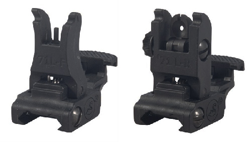 A.R.M.S. #71 Flip Up AR15 Back Up Polymer Sight Set Made In USA
