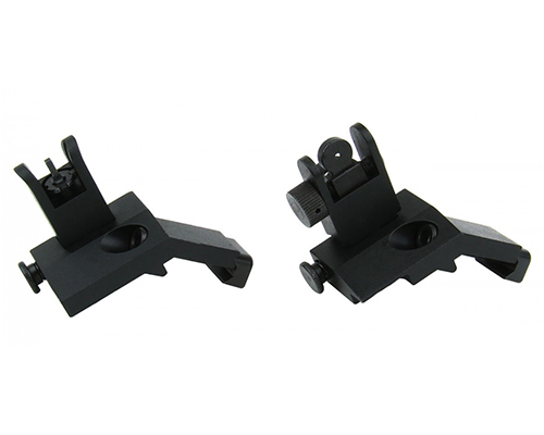 Tactical Quick Deploy Flip-Up 45 Degree Offset Backup Sights