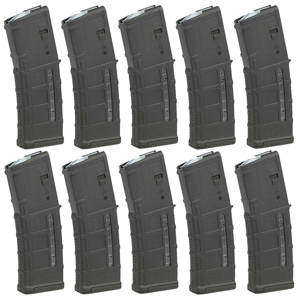 10 Pack - MAGPUL Window PMAG M3 AR15 5.56 30rd Black Magazine