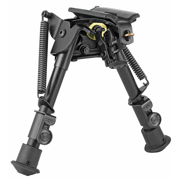 "Made in USA - Harris 6""-9"" Compact Height Swivel Motion Bipod"
