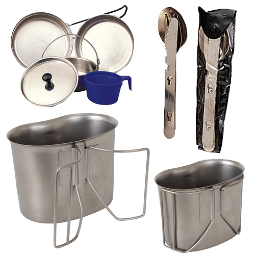 9 Piece Stainless Steel Mess Kit