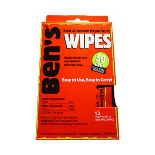 Adventure Medical Bens 30% Wipes (1- 12 Piece Box)
