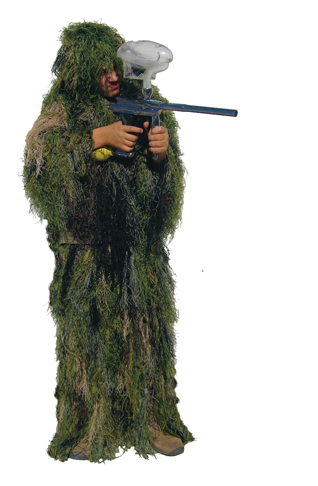 Rothco Bushrag Kids Ultralight Ghillie Suit - Woodland Camo