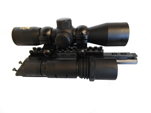 AK Combo #2 - Trirail Mount + 4x30 Rifle Scope + Flashlight Kit