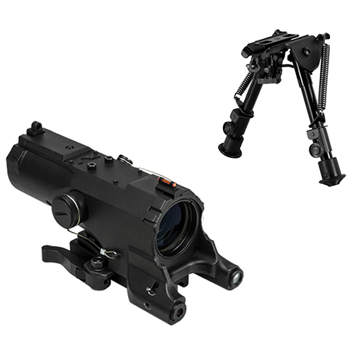 VISM ECO Combo #1 / 4x34 Scope With Green Laser + FREE Bipod