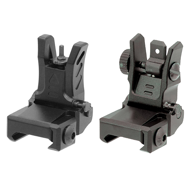 UTG Super Slim Flip-Up Front + Adjustable Rear Aiming Sight Set