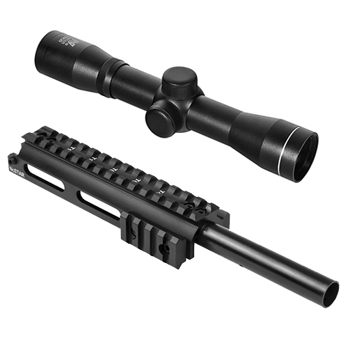 SKS Combo #11 - Gas Tube Scope Mount + 2.5X30 Scout Rifle Scope