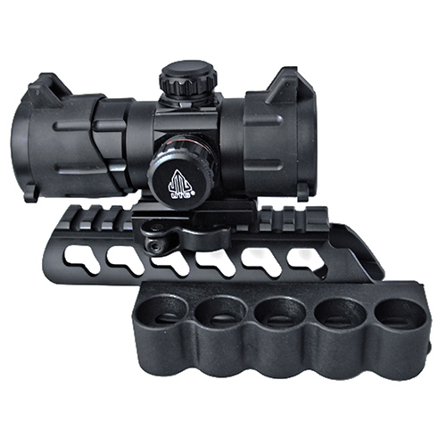 Rem870 Combo #7 - UTG 38mm Red Dot Sight + Dual Rail Mount - Click Image to Close