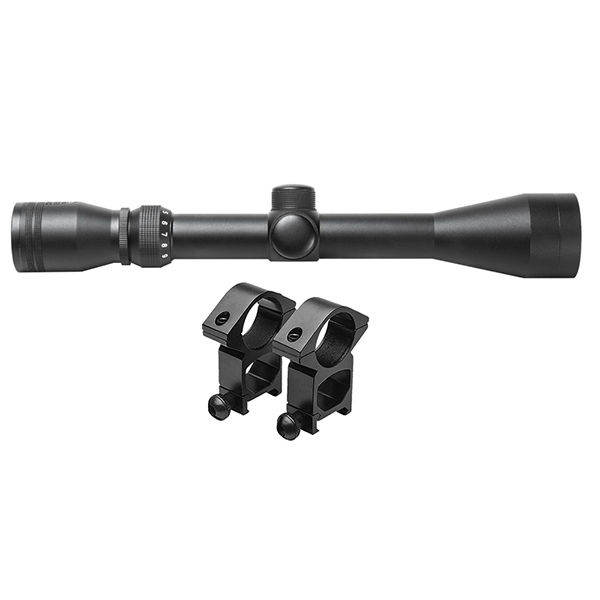 Trinity 3-9x40 Full Size Rifle Scope + Two Sets of Ring Mounts