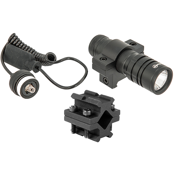 Tactical LED Weapon Light With Universal Fit Rifle Barrel Mount