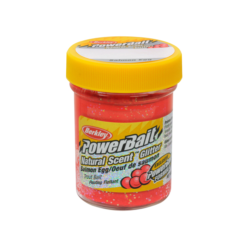 PowerBait Natural Scent Glitter Trout Bait Salmon Red Egg