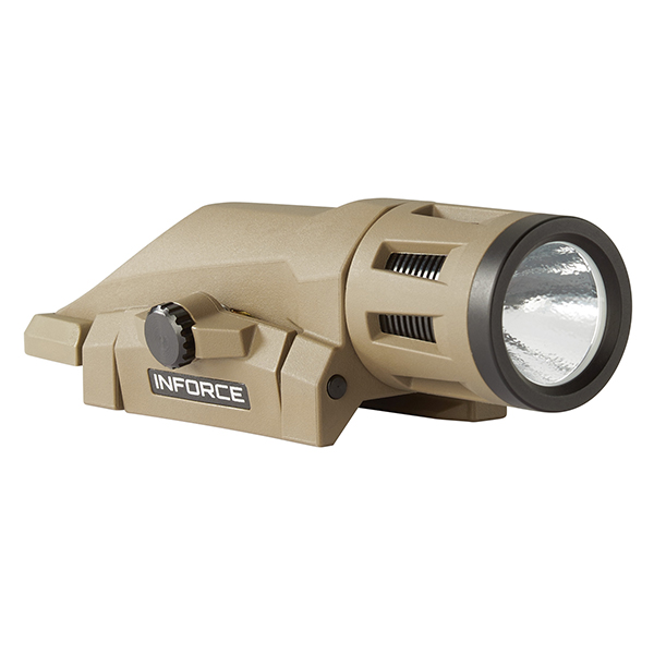 INFORCE WML 400 Lumen FDE Weapon Mounted Tactical LED Flashlight