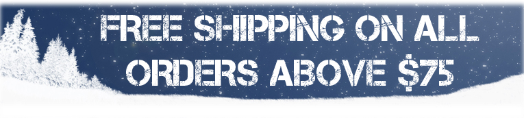 Free Shipping on all orders above $75