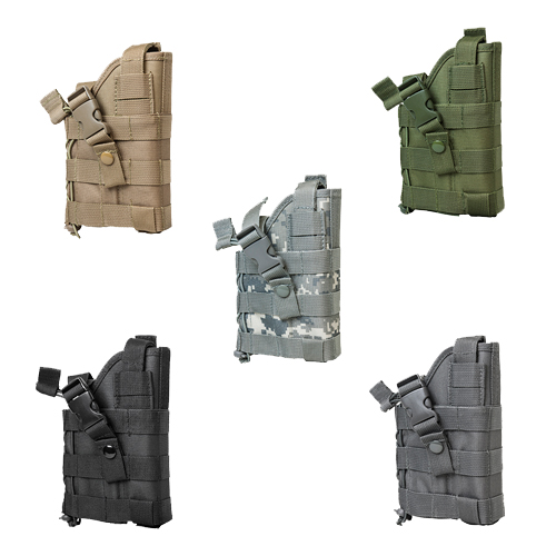 Tactical Ambidextrous MOLLE Pistol Holster - Multiple Colors