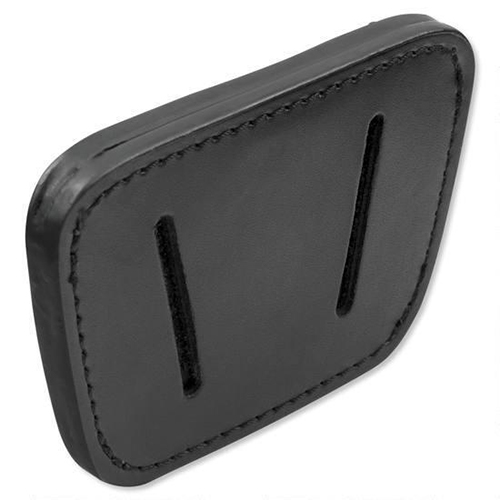 CCW Concealed Carry IWB OWB Black Leather Belt Slide Holster