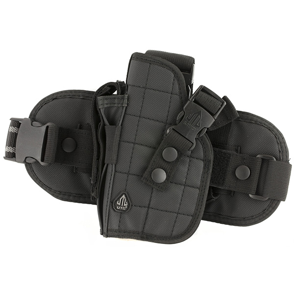UTG Tactical Drop Leg Left Hand Pistol Holster w/ Mag Pouch