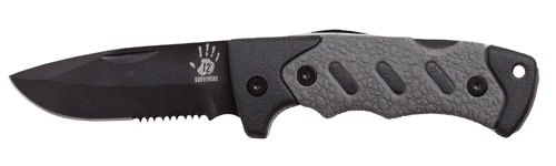 12 Surviors Folding Blade Modern Survival Knife
