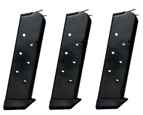 3 Pack CMC Shooting Star Mil-Spec 1911 8rd .45 Magazine w/ Pad