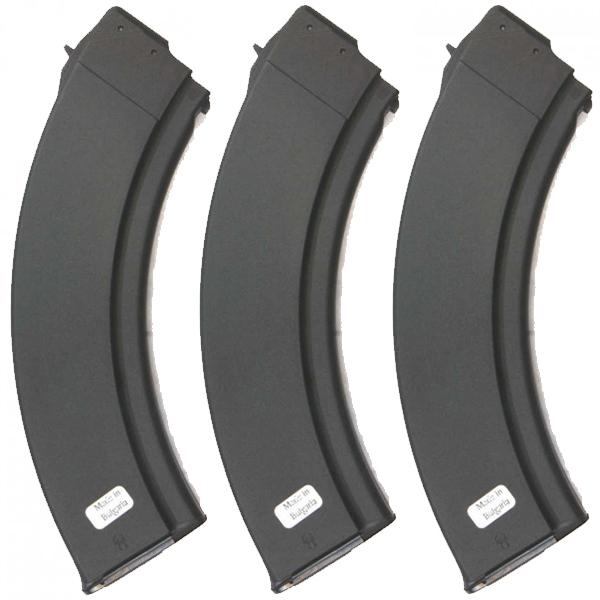 3 Pack - Bulgarian AK47 Metal Lined Synthetic 40rd Magazines