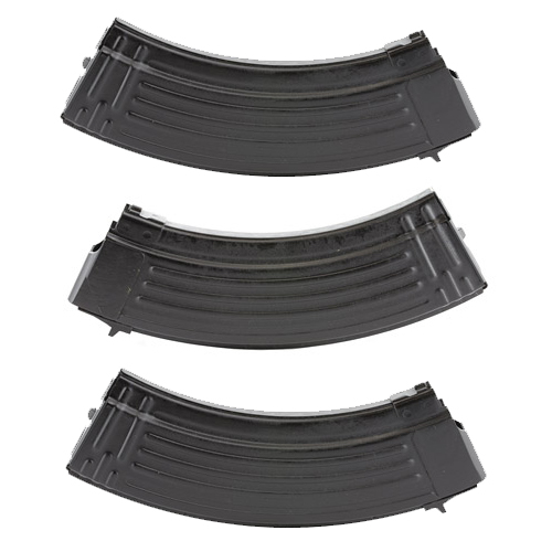 3 Pack - Bulgarian AK47 7.62x39 Black Steel 30rd Magazines
