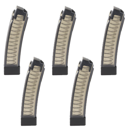5 Pack - CZ Scorpion EVO 3 S1 Factory 9mm 30rd Clear Magazines