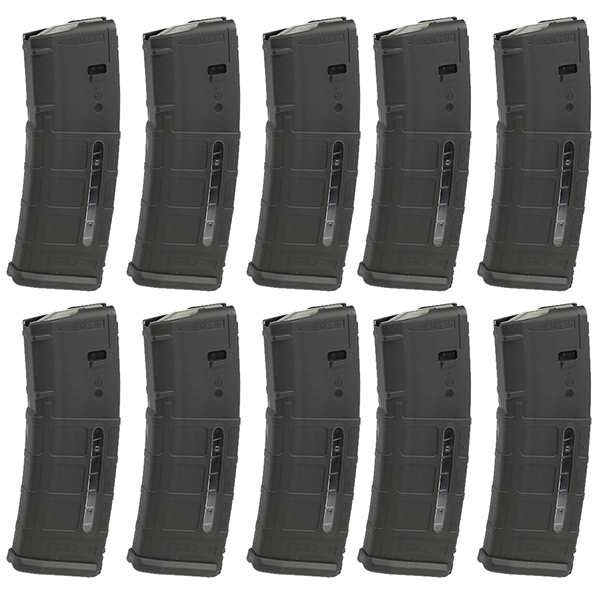 10 Pack - MAGPUL MOE Window PMAG AR15 5.56 30rd Black Magazine - Click Image to Close