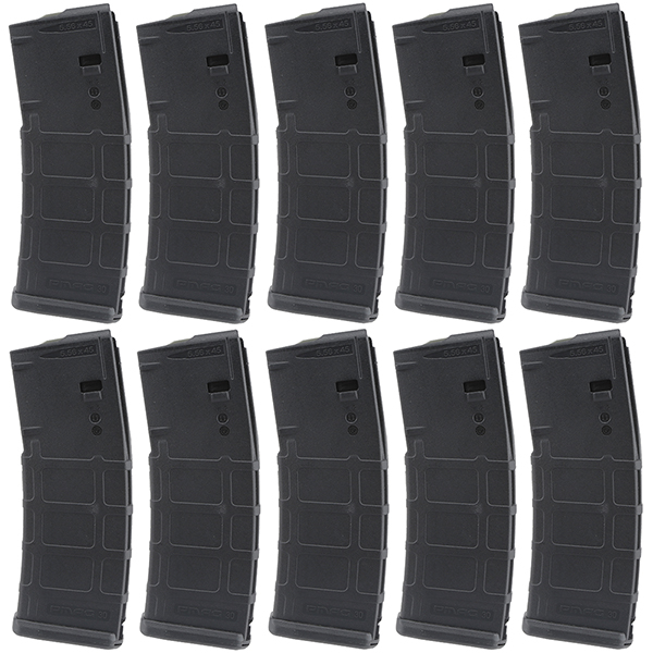 10 Pack - MAGPUL MOE AR15 5.56 30rd Black Magazine - Click Image to Close