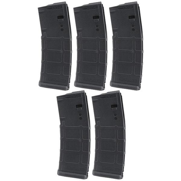 5 Pack - MAGPUL PMAG MOE AR15 5.56 30rd Black Magazine - Click Image to Close