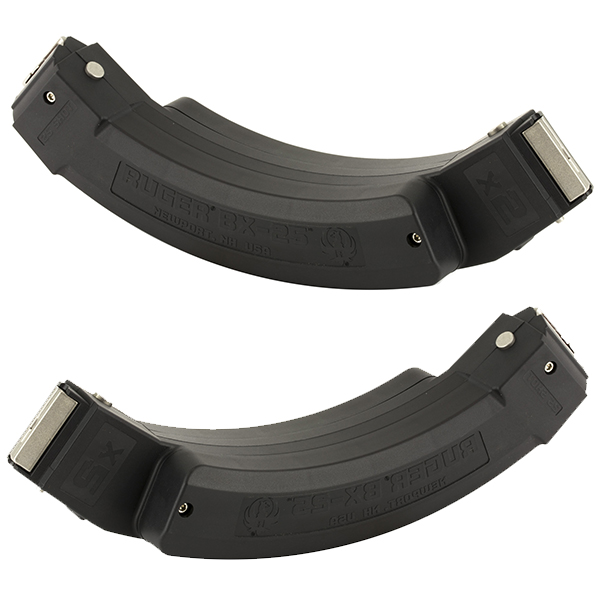Ruger BX-25 2 Pack 25rd Capacity 22LR Coupled 10/22 Magazines