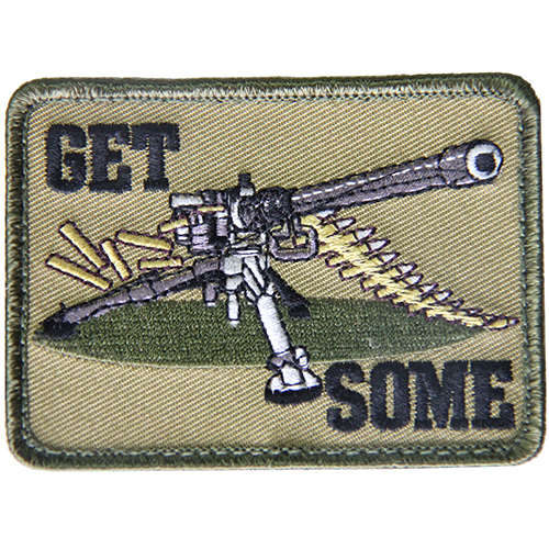Get Some .50 Cal Morale Patch Green + Black Hook & Loop Material
