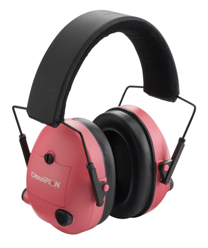 Champion Electronic Hearing Protection Earmuffs- Pink