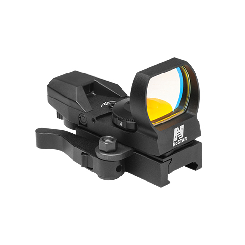 NcStar Red Colored Four Reticle Reflex Sight w/ QR Mount / D4BQ