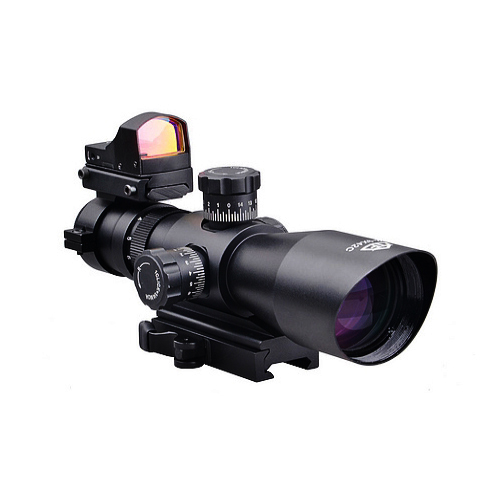 Trinity 3-9x42 Tactical Q.D. Scope + Backup Red Dot Sight