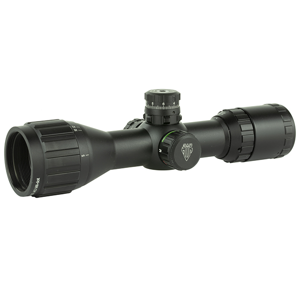 UTG 3-9x32 BugBuster illuminated AO Rifle Scope + Ring Mounts