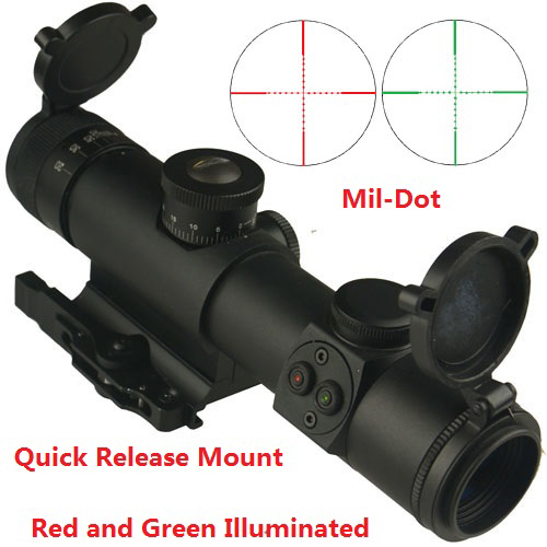 FSI 4x21 Compact Dual-Color illuminated Quick Detach Rifle Scope