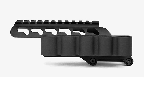Trinity Scope Mount With Shotshell Carrier For Remington 870 - Click Image to Close