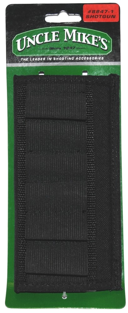 Black Shotgun Cartridge Belt Slide (Holds 6 Shells)
