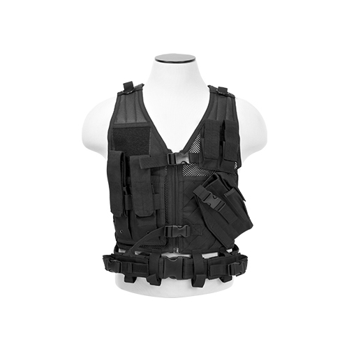 NcStar Child Vest - Colors: Black, Urban Gray or Woodland Camo
