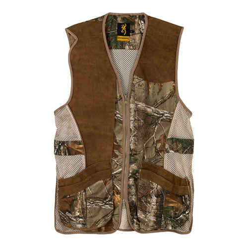 Browning Crossover Vest, Realtree Xtra/Leather Medium