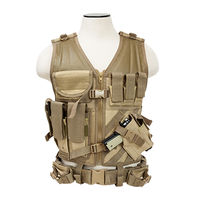 NcStar Tactical Vest Larger Size - Multiple Colors Available