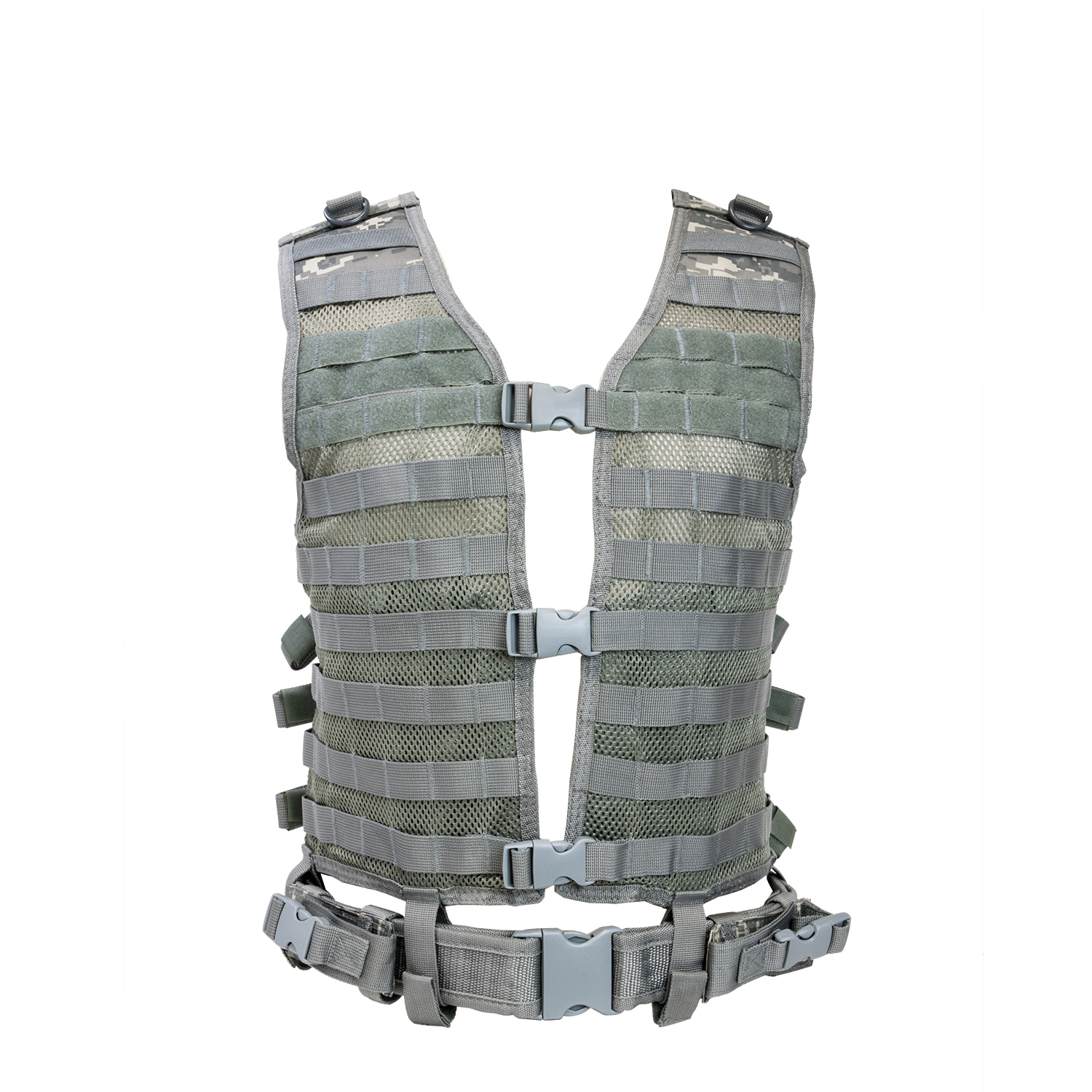 PALS MOLLE Tactical Combat Vest With Web Belt - Multiple Colors