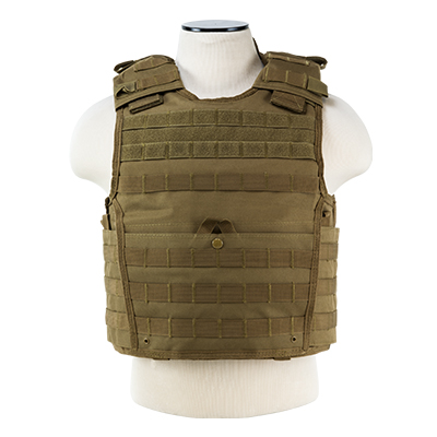 NcStar Expert MOLLE Plate Carrier Tactical Vest - Various Colors