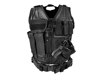VISM Tactical X-LARGE Vest w/ Rifle + Pistol Mag Pouches + Belt