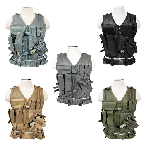 VISM Tactical Vest w/ Rifle + Pistol Magazine Pouches + Web Belt