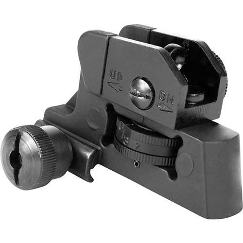 AR15 Fully Adjustable Dual Aperture Rear Target Sight