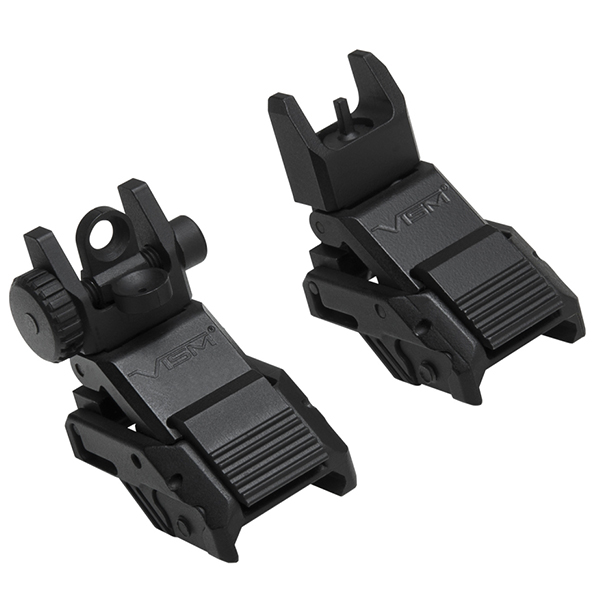 VISM Pro Series Flip-Up Front And Rear Aluminum Aiming Sight Set