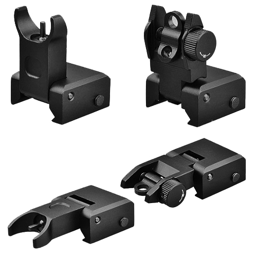 Tactical Front And Rear Flip-Up BUIS Aiming Sight Set